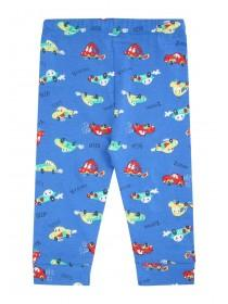 Baby Boys Blue Car Print Joggers