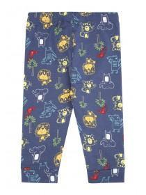 Baby Boys Blue Animal Print Joggers