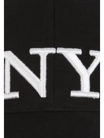 Older Girls Black NY Baseball Hat