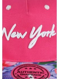Older Girls Pink Floral NY Snapback Hat