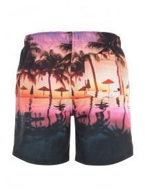 Mens Tropical Print Swim Shorts