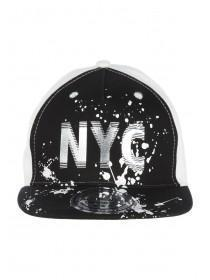 Older Boys Black NYC Snapback Hat