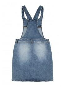 Older Girls Blue Graffiti Pinafore Dress