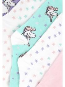 Girls 5pk Unicorn Socks
