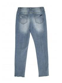 Older Girls Two Tone Blue Skinny Jeans