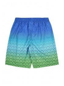 Older Boys Blue and Green Geometric Boardshorts
