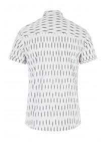 Mens White Abstract Stripe Shirt