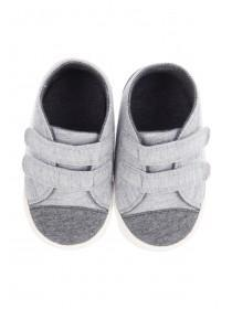 Baby Boys Grey Hi Top Booties