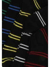 Mens 5pk Black Stripe Trainer Socks