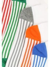 Mens 5pk Stripy Trainer Socks