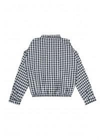 Older Girls Monochrome Check Shirt