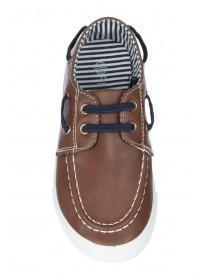 Younger Boys Brown Boat Shoes