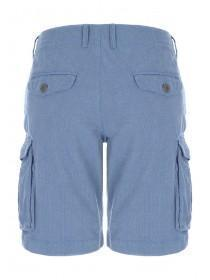 Mens Blue Cargo Shorts