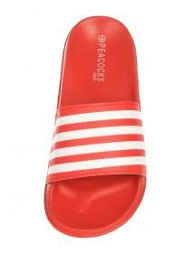 Older Boys Red Stripe Slider Sandals