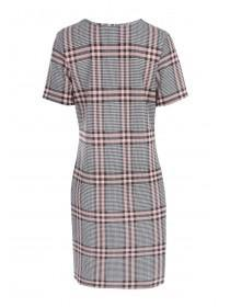 Womens Pale Pink Check Dress