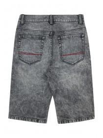 Older Boys Grey Acid Wash Shorts