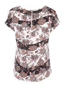 Womens Pink Paisley Top