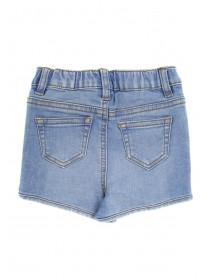 Younger Girls Blue Embroidery Shorts