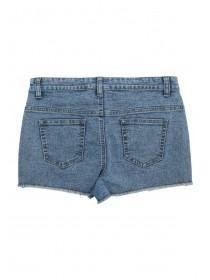 Older Girls Blue Denim Jewel Shorts