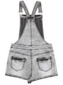 Older Girls Grey Dungarees