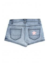 Older Girls Blue Glitter Star Shorts