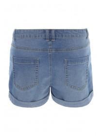 Womens Mid Blue Denim Shorts