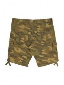 Mens Khaki Printed Cargo Shorts