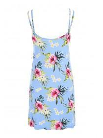 Womens Blue Tropical Print Chemise
