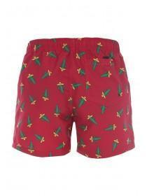 Mens Red Cactus Print Swimshorts
