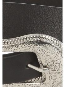Womens Black Western Belt