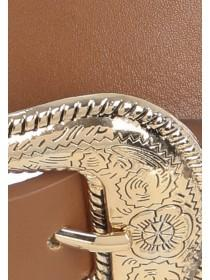 Womens Tan Western Belt