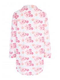 Womens Pink Floral Boyfriend Nightshirt