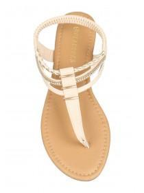 Womens Nude Toe Post Sandals