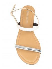 Womens Tan Open Toe Strappy Sandals