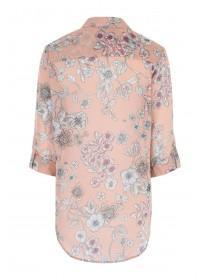 Womens Pale Pink Floral Blouse