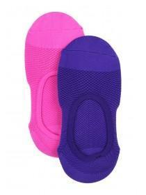 Womens 2pk Microfibre Footlets