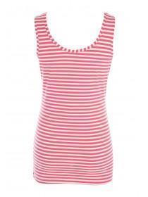 Maternity Pink Stripe Vest Top