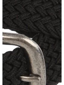Mens Black Stretch Plait Belt