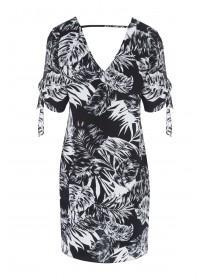 Womens Monochrome Palm Dress