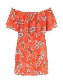 Womens Floral Bardot Dress