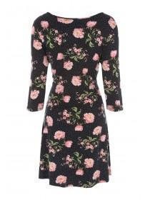Womens Black Floral Dress