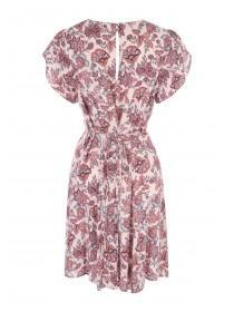 Womens Pale Pink Paisley Tea Dress