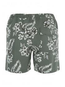 Mens Khaki Floral Swimshorts