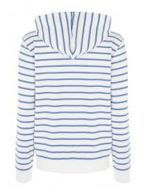 Womens Blue Stripe Zip Hoody