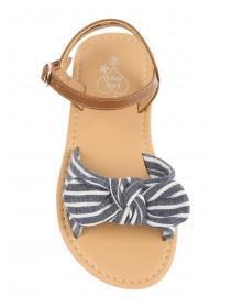 Younger Girls Navy Stripe Sandals