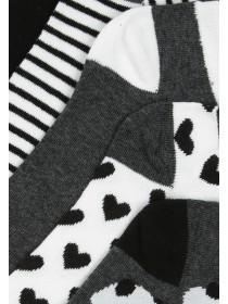 Womens 5pk Monochrome Trainer Socks