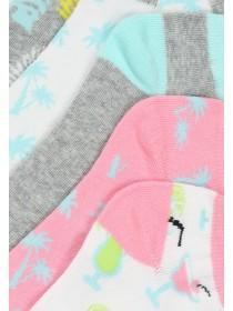 Womens 5pk Design Trainer Socks
