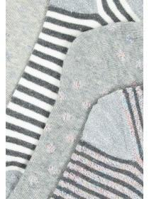 Womens 5pk Grey Trainer Socks