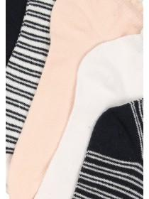 Womens 5pk Stripe Trainer Socks
