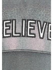Older Girls Silver Glitter Believe Baseball Hat